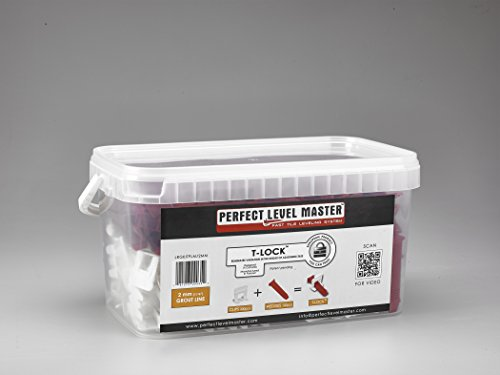 116-T-Lock-Complete-KIT-Anti-lippage-Tile-leveling-system-by-PERFECT-LEVEL-MASTER-300-spacers-100-wedges-in-handy-bucket-Tlock-0
