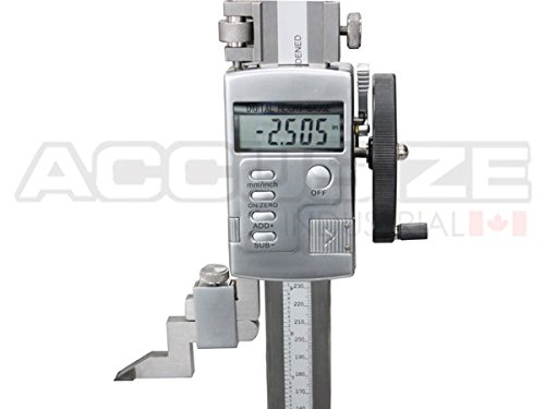 "Accusize – 0-12"" x 0.0005"" Electronic Digital Height Gage with Hand Wheel, #0103-0603"