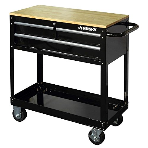 36-in-3-Drawer-Rolling-Tool-Cart-with-Wood-Top-Black-0