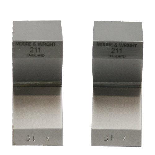 Moore and Wright Standard Pair Vee Blocks 63mm/ 2.48″ – 200 Series