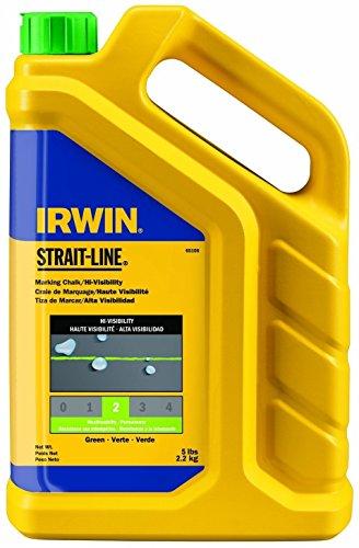 4-Pack-Irwin-65106-Strait-Line-5lb-Hi-Visibility-Marking-Chalk-Fluorescent-Green-Lime-0