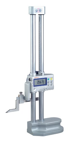 Mitutoyo 192-671-10 LCD Digimatic Height Gauge, SPC Output, 0-18″ Range, 0.0005″ Resolution, +/-0015″ Accuracy, 7.5kg Mass