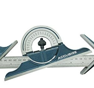 AccusizeTools-24-4-Combination-Square-Ruler-Set-Protractor-Satin-4R-Graduation-0000-8102-0