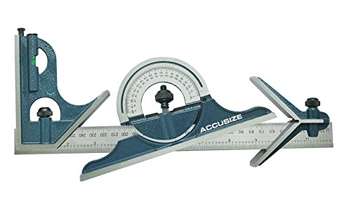 AccusizeTools-24-4-Combination-Square-Ruler-Set-Protractor-Satin-4R-Graduation-0000-8102-0