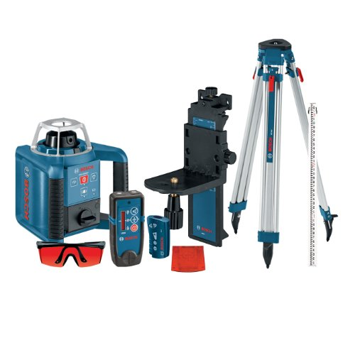 Bosch-GRL300HVCK-Self-Leveling-Rotary-Laser-with-Layout-Beam-Complete-Kit-with-Receiver-Remote-Tri-pod-and-Wall-Mount-0