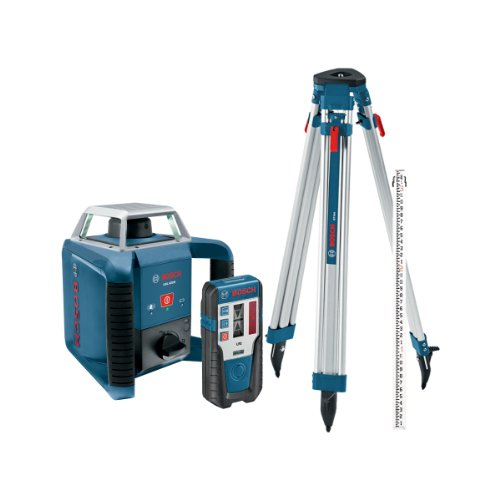 Bosch Grl400hck Exterior Self Leveling Rotary Laser Complete Kit With Receiver Tri Pod Grade