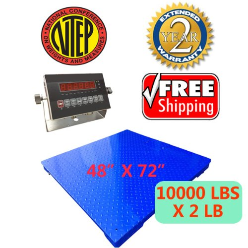 Certified-NTEP-10000lbx2lb-4×6-Legal-For-Trade-Floor-Scale-with-Indicator-Manufactory-Calibrated-BRAND-NEW-PALLET-SCALE-0