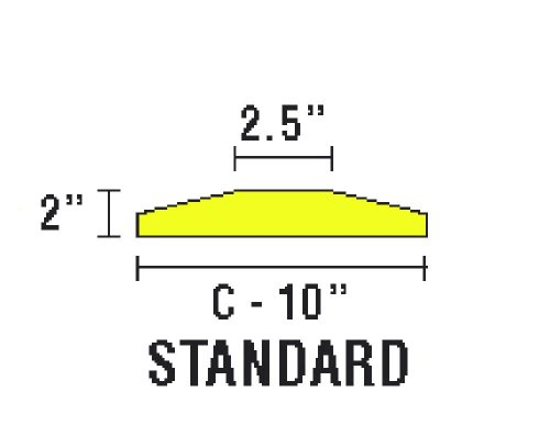 Checkers-SB6S-S-Recycled-Plastic-Standard-6-Speed-Bump-with-Hardware-Yellow-72-Length-x-10-Width-x-2-Height-0-0