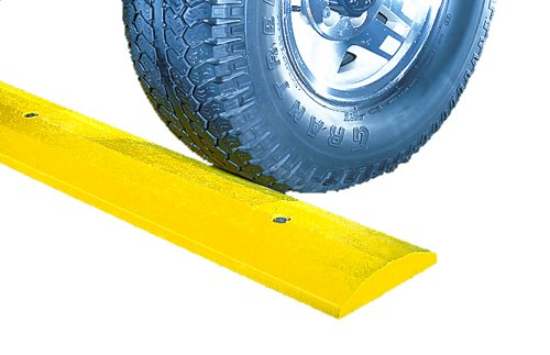 Checkers-SB6S-S-Recycled-Plastic-Standard-6-Speed-Bump-with-Hardware-Yellow-72-Length-x-10-Width-x-2-Height-0