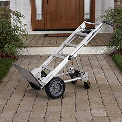 Cosco-Products-12312ABL1E-3-in-1-Aluminum-Hand-TruckAssisted-Hand-TruckCart-with-Flat-Free-Wheels-AluminumBlack-0-1