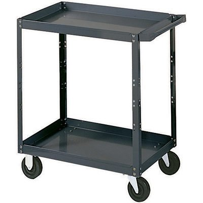 Edsal-SC1800-Industrial-Gray-Extra-Heavy-Duty-Industrial-Service-Cart-2-Shelves-16-Gauge-Steel-1000lbs-Capacity-30-Width-x-36-Height-x-18-Depth-0
