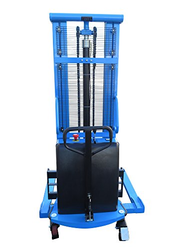 Eoslift-S15J-Powered-Lift-Semi-Electric-Stacker-With-Adjustable-Forks-and-Support-Legs-118-Raised-Height-42-Length-X-83-33-Adjustable-Width-Fork-3300-Lb-Capacity-0-0