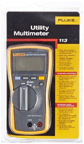 Fluke-113-True-RMS-Utility-Multimeter-with-Display-Backlight-9V-Alkaline-Battery-600V-Voltage-0-0