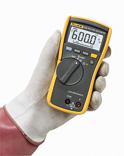 Fluke-113-True-RMS-Utility-Multimeter-with-Display-Backlight-9V-Alkaline-Battery-600V-Voltage-0-1