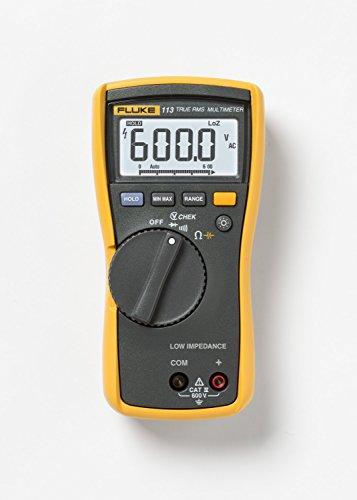 Fluke-113-True-RMS-Utility-Multimeter-with-Display-Backlight-9V-Alkaline-Battery-600V-Voltage-0