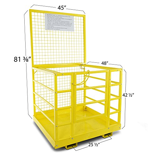 Forklift-Safety-Cage-Work-Platform-Lift-Basket-Aerial-Fence-Rails-45×43-2-man-0-0