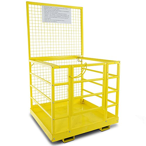 Forklift-Safety-Cage-Work-Platform-Lift-Basket-Aerial-Fence-Rails-45×43-2-man-0