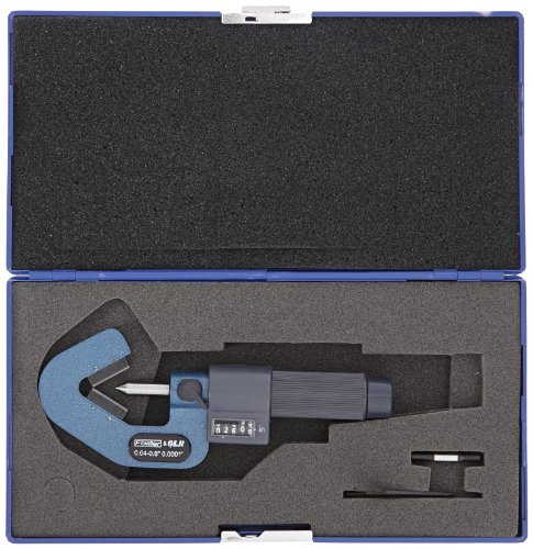 Fowler-52-211-141-EZ-Read-Digit-V-Anvil-Micrometer-3-Flutes-00002-Accuracy-004-06-Measuring-Range-00001-Graduation-0-0