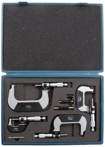 Fowler-52-224-104-Inch-Outside-Digit-Micrometer-Set-0-4-Measuring-Range-00001-Graduation-Set-of-4-0-0