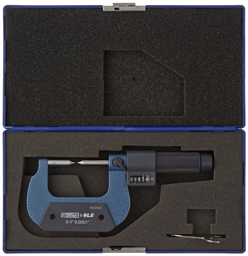 Fowler-52-226-641-EZ-Read-Digit-Micrometer-with-60-degree-Point-0-1-Measuring-Range-000016-Accuracy-00001-Graduation-0-0