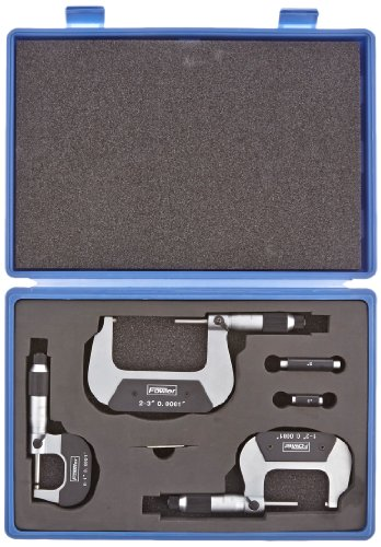 Fowler-52-229-213-Economy-Vernier-Micrometer-Set-0-3-Measuring-Range-00001-Graduation-Set-of-3-0-0