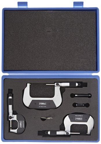 Fowler-52-229-215-Digit-Outside-Metric-Micrometer-Set-0-75mm-Measuring-Range-001mm-Graduation-Set-of-3-0-0