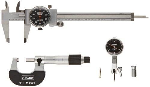 Fowler Dial Indicator Digital : Fowler black face measuring set ″ caliper