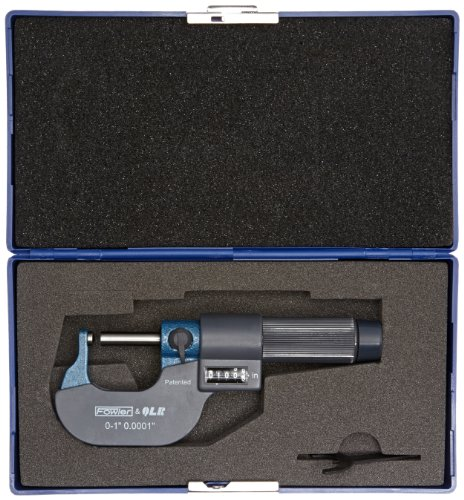 Fowler-52-244-601-EZ-Read-Single-Ball-Anvil-Digit-Micrometer-0-1-Measuring-Range-00001-Graduation-Interval-00002-Accuracy-0-0