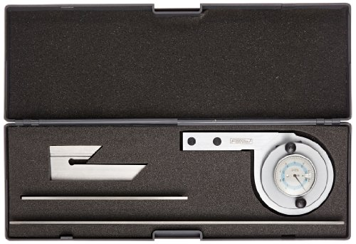 Fowler-52-440-777-Stainless-Steel-Universal-Dial-Protractor-with-Magnifier-Lens-Satin-Chrome-Finish-6-to-12-Blades-Dial-Reading-5-Minutes-0-0