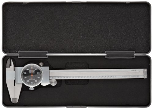 Fowler-Full-Warranty-Stainless-Steel-Shockproof-Dial-Caliper-52-008-707-0-0-6-Measuring-Range-0001-Graduation-Interval-Face-Color-Black-0-0