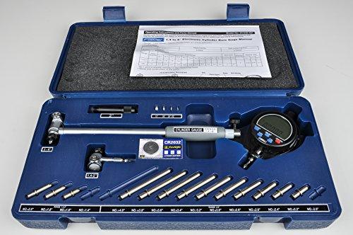 Fowler-Full-Warranty-X-tender-E-Electronic-Dial-Bore-Gage-Gauge-Set-54-646-401-14-6-Measuring-Range-0-1