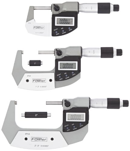 Fowler-Rugged-Steel-Xtra-Value-IP54-Digi-Micrometer-0-30-75mm-Measuring-Range-0000050001mm-Resolution-RS-232-Output-0