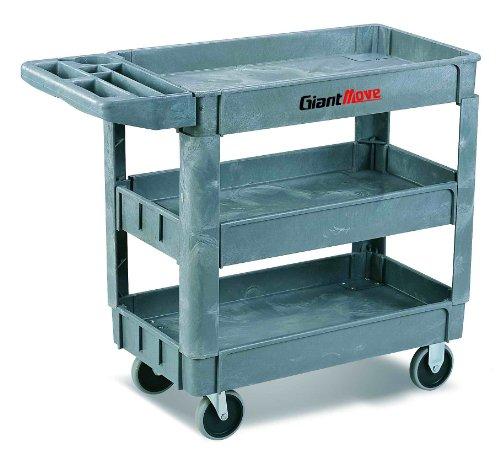 Giant-Move-Plastic-Utility-Cart-500-lbs-Capacity-37-Length-x-26-Width-x-33-Height-Gray-0