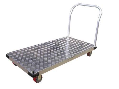 Heavy-Duty-Aluminum-Platform-Hand-Truck-Cart-24×48-Poly-Caster-2000-Lbs-capacity-0