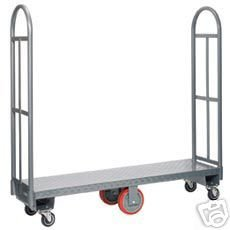 Heavy-Duty-Narrow-Aisle-U-boat-Platform-Truck-Dolly-16×60-Steel-Deck-1800-Lbs-Capacity-0