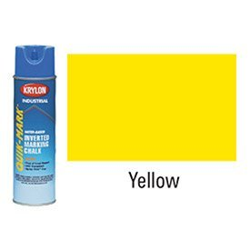 Krylon-Industrial-Quik-Mark-Wb-Inverted-Marking-Chalk-Apwa-Yellow-Lot-of-12-0