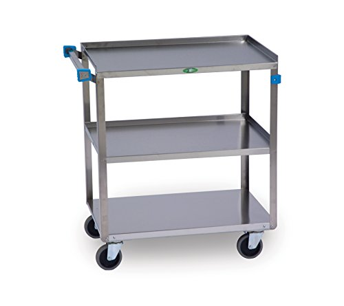Lakeside-411-Medium-Duty-Utility-Cart-3-Shelves-Stainless-Steel-500-lb-Capacity-16-34-x-27-58-x-32-0
