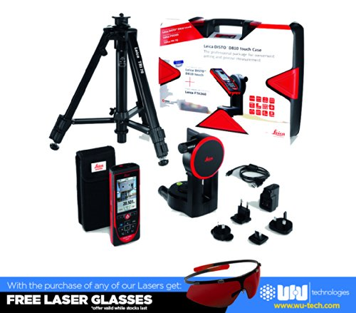 Leica-DISTO-D810-Touch-660ft-Laser-Distance-Measurer-wBluetooth-and-1mm-Accuracy-RedBlack-0