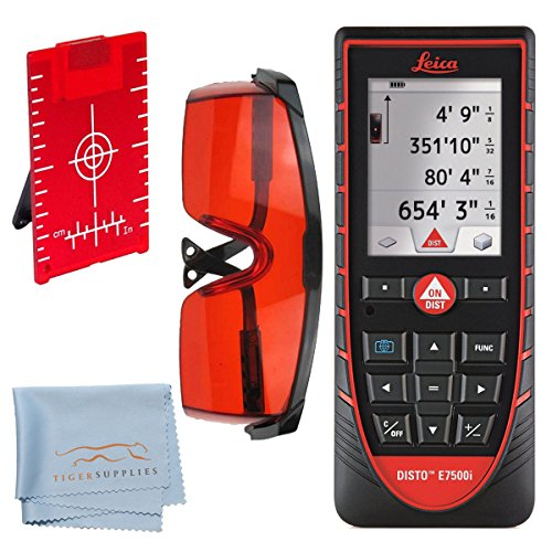 Leica-E7500i-Laser-Distance-Measurer-Kit-Includes-Leica-DISTO-E7500i-Laser-Distance-Measurer-with-Disto-Sketch-IPad-IPhone-App-Red-Laser-Glasses-for-Distance-Meters-Red-Magnetic-Floor-Target-Plate-wSt-0
