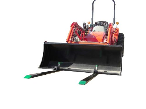 Light-Duty-Pallet-Forks-1400-Lbs-Lift-Capacity-Wont-Harm-Bucket-Exclusive-Clamp-Pad-Design-0-0