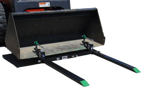 Light-Duty-Pallet-Forks-1400-Lbs-Lift-Capacity-Wont-Harm-Bucket-Exclusive-Clamp-Pad-Design-0-1