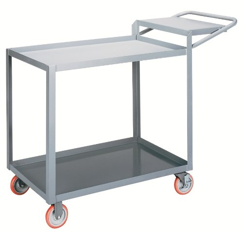 Little-Giant-LGL-1832-WSBRK-Order-Picking-Truck-with-Lip-Edge-Shelves-and-Writing-Shelf-1200-lbs-Capacity-32-Length-x-18-Width-x-35-Height-0