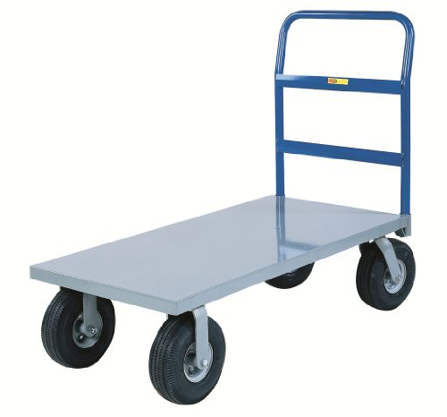 Little-Giant-NBB-2460-10P-Steel-Deck-Cushion-Load-Platform-Truck-with-10-Pneumatic-Wheels-1500-lbs-Capacity-60-Length-x-24-Width-0