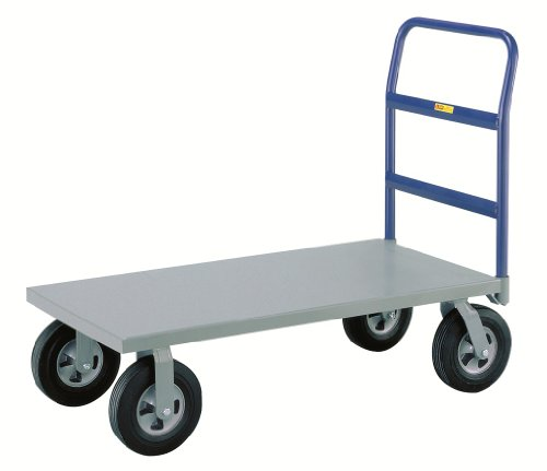 Little-Giant-NBB-3048-10SR-Steel-Deck-Cushion-Load-Platform-Truck-with-10-Puncture-Proof-Rubber-Tires-1500-lbs-Capacity-48-Length-x-30-Width-0
