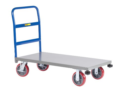 Little-Giant-NCB-3060-8PYBK-12-Gauge-Steel-Heavy-Duty-Platform-Truck-with-8-Polyurethane-Wheels-3600-lbs-Capacity-60-Length-x-30-Width-0