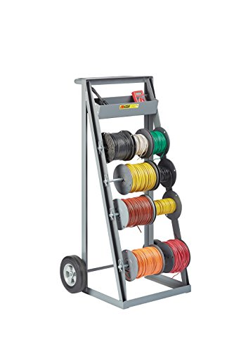 Little-Giant-RT4-8S-Bulk-Handling-Wire-Reel-Caddy-with-Full-Width-Handle-and-Convenient-Tool-Tray-Gray-Finish-0