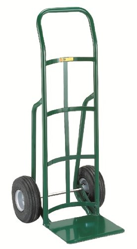 Little-Giant-T-200-14-Gauge-Tubular-Steel-12-Deep-Reinforced-Nose-Plate-Hand-Truck-with-Continuous-Handle-Pneumatic-Wheels-Green-800-lbs-Load-Capacity-47-Height-x-21-Width-x-22-Depth-0-0