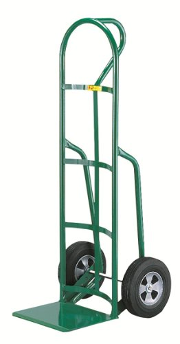 Little-Giant-T-240-14-Gauge-Tubular-Steel-12-Deep-Reinforced-Nose-Plate-Hand-Truck-with-Loop-Handle-Solid-Rubber-Tire-Wheels-Green-800-lbs-Load-Capacity-49-Height-x-19-Width-x-22-Depth-0