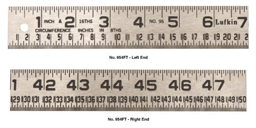 Lufkin-954FT-1-14-Inch-by-4-Foot-Tinner-Foot-Steel-Circumference-Rule-0