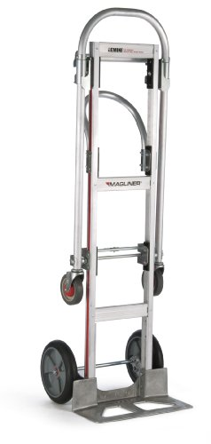 Magline-GMK81UAB-Aluminum-Gemini-Sr-Convertible-Hand-Truck-U-Loop-Handle-Cushion-Wheels-500lbs-Capacity-61-Height-55-34-Length-x-21-Width-0